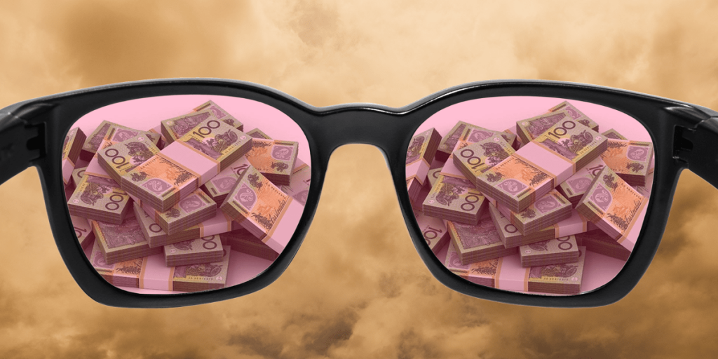 success rose tinted glasses